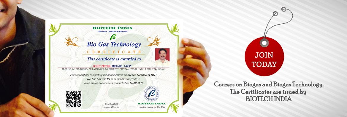 Biogas course - Online biogas course, biogas training, edu